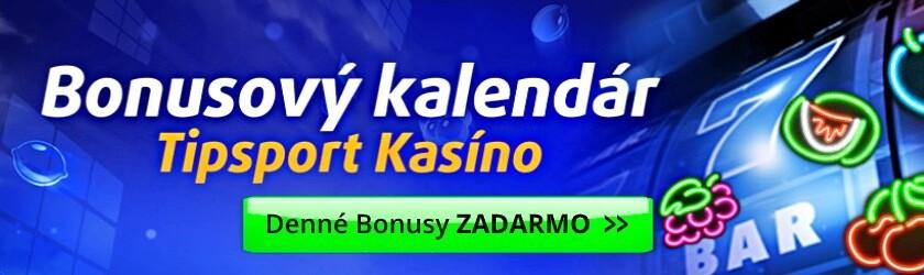 Bonusový kalendár Tipsport Kasíno Slovensko