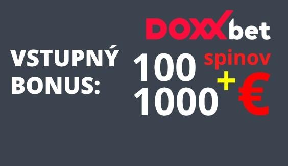 Doxxbet vstupný bonus 1000 EUR a 100 spinov
