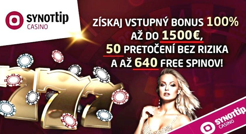 Synottip kasíno najlepší vstupný bonus do kasína