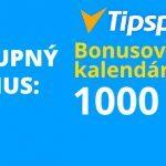 Tipsport kasíno vstupný bonus a bonusový kalendár
