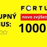 Fortuna kasíno vstupný bonus 2020