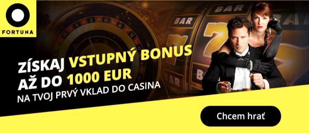 Fortuna vstupný bonusy 1000 EUR