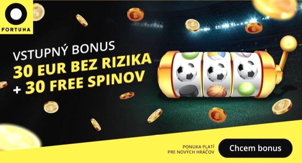 Fortuna 30 EUR a 30 Free Spinov