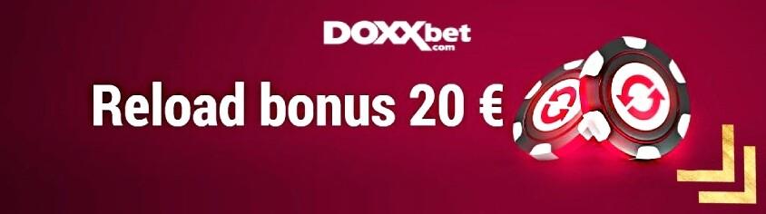Doxxbet reload bonus 20 €