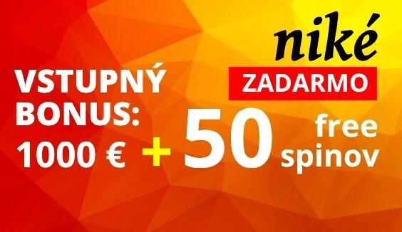Niké casino automaty 50 free spinov