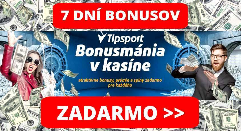 Bonusmánia Tipsport Casino