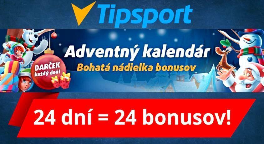 Adventný kalendár Tipsport Casino bonus Slovensko