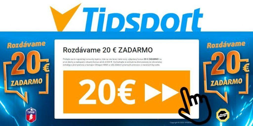 Tipsport 20€ bonus