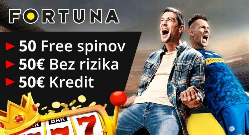 Fortuna 50 EUR zadarmo